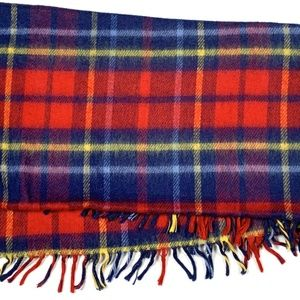 Cannon Vintage Plaid Throw Blanket Cover Fringe